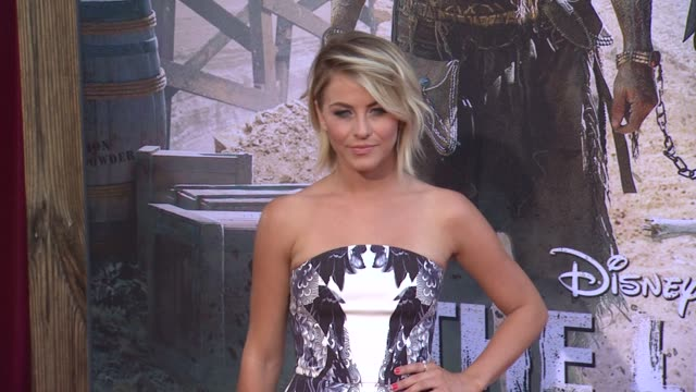 julianne hough at the lone ranger los angeles premiere julianne hough at the lone ranger los angeles pr at disney california adventure park on june... - the lone ranger 2013 film stock videos and b-roll footage