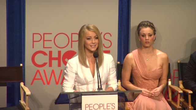 julianne hough at the people's choice awards 2012 nominations press conference - people's choice awards stock videos & royalty-free footage