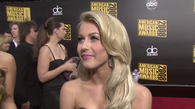Julianne Hough her music career on what she's doing at the award show on moving on who she's looking forward to seeing tonight at the 2008 American...