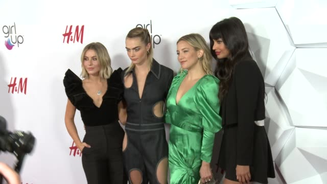 julianne hough, kate hudson, cara delevingne, jameela jamil at 2nd annual girl up #girlhero awards at the beverly wilshire four seasons hotel on... - utmärkelse bildbanksvideor och videomaterial från bakom kulisserna