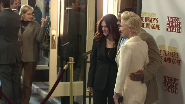 julianne moore, anthony anderson and edie falco at the opening night of august wilson's 'joe turner's come and gone' at new york ny. - anthony anderson stock videos & royalty-free footage