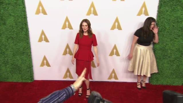 julianne moore at 87th annual academy awards nominee luncheon - reception at the beverly hilton hotel on february 02, 2015 in beverly hills,... - the beverly hilton hotel stock videos & royalty-free footage