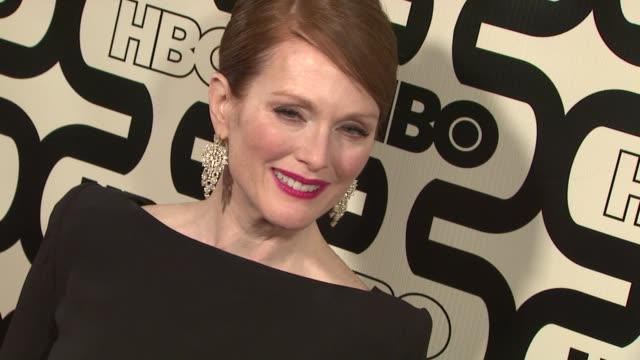 julianne moore at hbo's 70th annual golden globes after party in los angeles, ca, on 1/13/13. - ジュリアン・ムーア点の映像素材/bロール