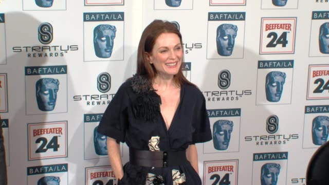 julianne moore at the bafta la's 16th annual awards season tea party at beverly hills ca - bafta la tea party stock videos and b-roll footage