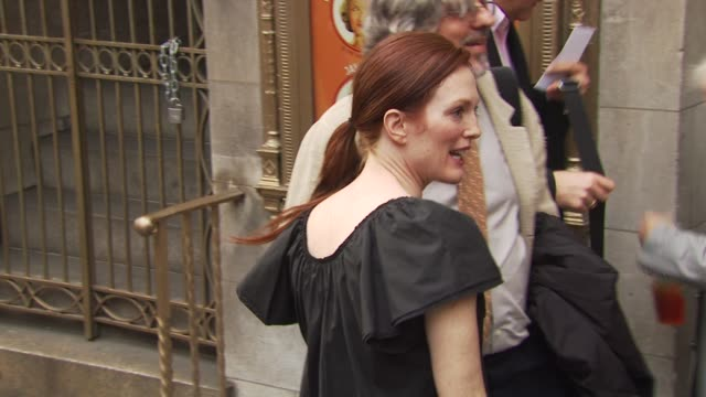 julianne moore at the opening of 'lend me a tenor' arrivals at new york ny - lend me a tenor stock-videos und b-roll-filmmaterial