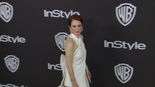julianne moore at the warner bros. and instyle host 20th annual post-golden globes party at the beverly hilton hotel on january 6, 2019 in beverly... - ジュリアン・ムーア点の映像素材/bロール