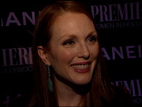julianne moore at the women in hollywood awards at the four seasons hotel in beverly hills, california on october 16, 2002. - four seasons hotel stock videos & royalty-free footage