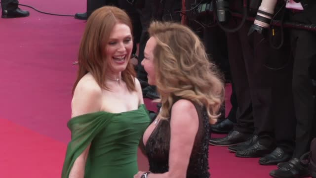 Julianne Moore Caroline Scheufele at The 72nd Cannes Film Festival on May 14 2019 in Cannes France