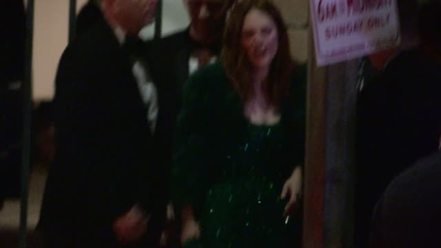 Julianne Moore departs the SAG Awards After Party at The Shrine Auditorium in Los Angeles Celebrity Sightings in Los Angeles CA on