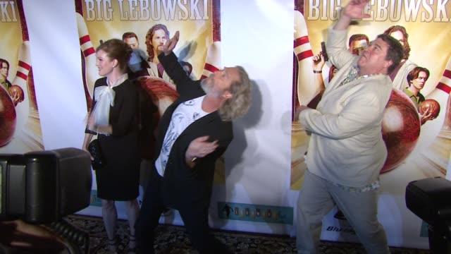 Julianne Moore Jeff Bridges and John Goodman at the 'The Big Lebowski' BluRay Release at New York NY