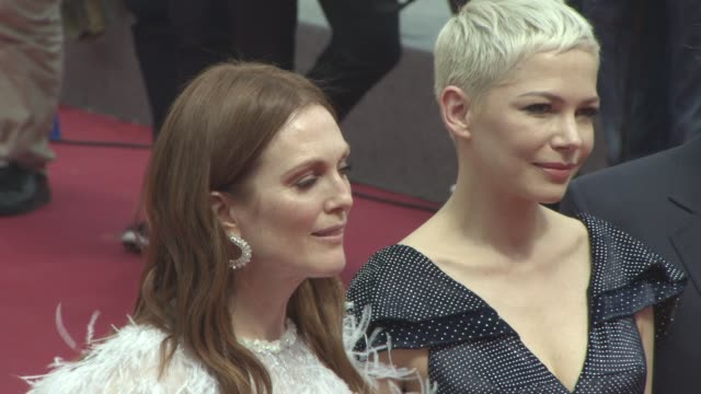 Julianne Moore Michelle Williams at 'Wonderstruck' Red Carpet at Palais des Festivals on May 18 2017 in Cannes France