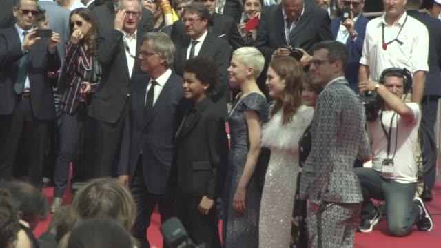 Julianne Moore Michelle Williams Todd Haynes Jaden Michael Millicent Simmonds Brian Selznick at 'Wonderstruck' Red Carpet at Palais des Festivals on...
