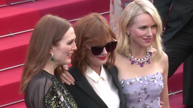 Julianne Moore Susan Sarandon and Naomi Watts were among the stars who walked the red carpet head of the 69th Cannes film festival