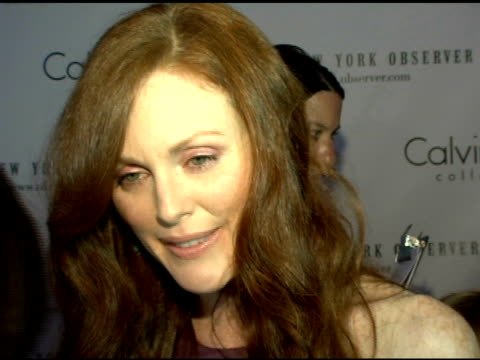 julianne moore/actress she discusses how being a mother and actress is what she relates to in her character, and discusses how her family is what is... - the family man film title stock videos & royalty-free footage