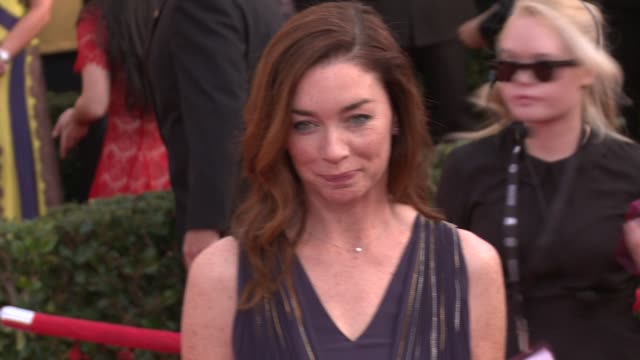 julianne nicholson at 20th annual screen actors guild awards - arrivals at the shrine auditorium on in los angeles, california. - shrine auditorium stock videos & royalty-free footage