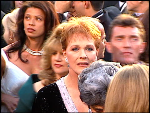 Julie Andrews at the 1997 Academy Awards Arrivals at the Shrine Auditorium in Los Angeles California on March 24 1997