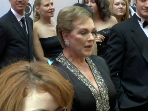 julie andrews at the 60th annual tony awards at radio city music hall in new york city, ny. - julie andrews stock videos & royalty-free footage