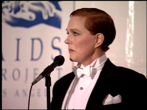 julie andrews at the apla commitment to life at universal amphitheatre in universal city, california on january 19, 1995. - julie andrews stock videos & royalty-free footage