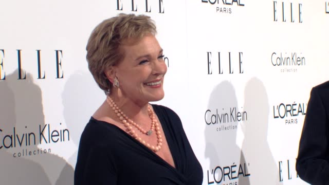 julie andrews at the elle's 16th annual women in hollywood tribute at beverly hills ca. - julie andrews stock videos & royalty-free footage