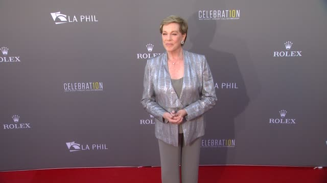 julie andrews at the los angeles philharmonic's walt disney concert hall 10th anniversary, 09/30/13 - julie andrews stock videos & royalty-free footage