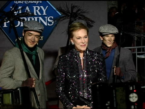 julie andrews at the 'mary poppins' 40th anniversary and launch of the special edition dvd arrivals at the el capitan theatre in hollywood,... - julie andrews stock videos & royalty-free footage