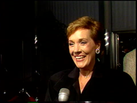 julie andrews at the 'that's life' premiere at dga in los angeles, california on september 23, 1986. - director's guild of america stock videos & royalty-free footage