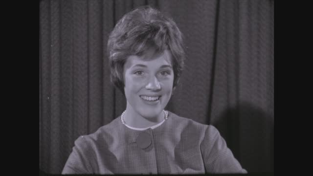 julie andrews interviewed about her new musical; itn england: lap int julie andrews seated for interview julie andrews sot - very nervous - i would,... - julie andrews stock videos & royalty-free footage