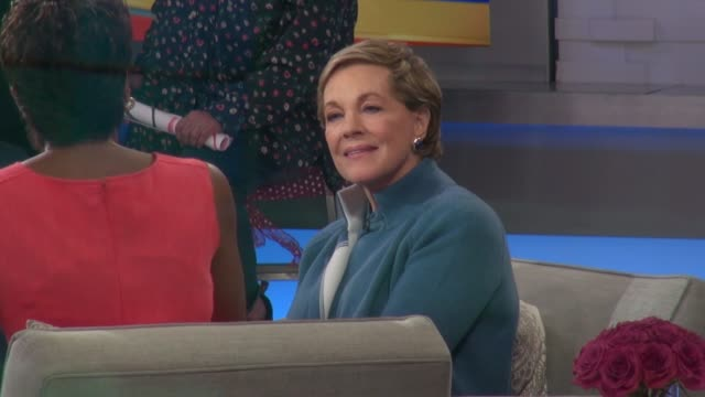 julie andrews on the set of the good morning america show in celebrity sightings in new york, - julie andrews stock videos & royalty-free footage