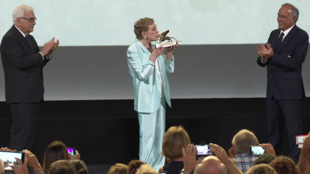 julie andrews ulie andrews is awarded the golden lion for lifetime achievement and speech at golden lion for career achievement to julie andrews on... - julie andrews stock videos & royalty-free footage