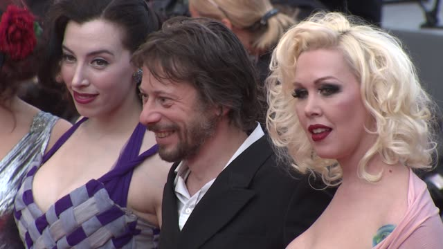julie atlas muz dirty martini and mathieu amalric at the closing night/the tree red carpet cannes film festival 2010 at cannes - martini stock videos & royalty-free footage
