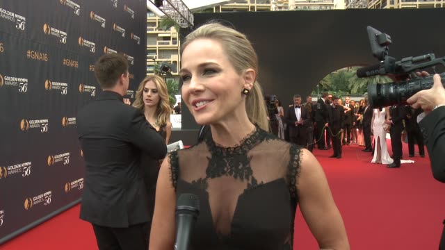 INTERVIEW Julie Benz at 56th Monte Carlo TV Festival Day 4 on June 16 2016 in Monaco Monaco