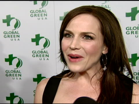 julie benz on attending tonight's event and on global green usa at the global green usa's 5th annual preoscar party at null in hollywood california... - pre party stock videos and b-roll footage