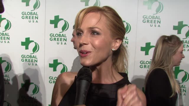 Julie Benz on attending tonight's event on being green and on how this event raises awareness at the Global Green USA's 6th Annual PreOscar Party...