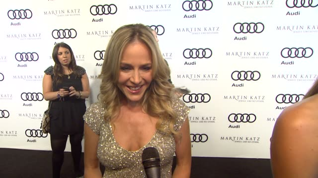 Julie Benz on kicking off Golden Globe week at this party what she's most looking forward to this evening what he thought of the Audi A8 her plans...