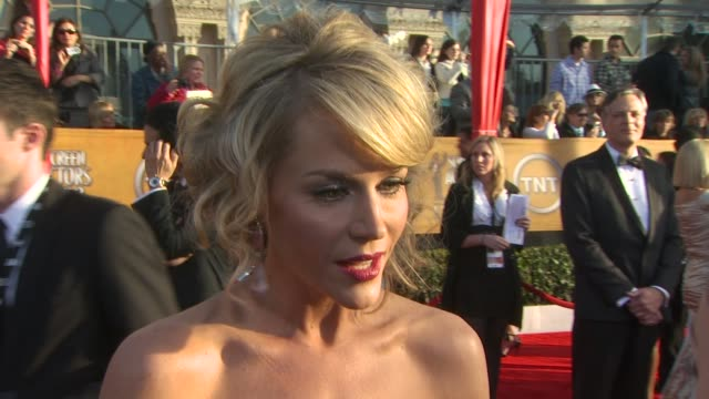 Julie Benz on preparing for Awards Season at the 16th Annual Screen Actors Guild Awards Arrivals at Los Angeles CA