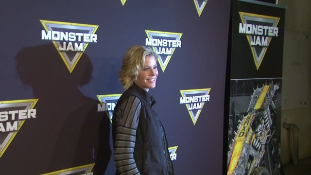 Julie Bowen at Monster Jam Celebrity Night at Angel Stadium of Anaheim on January 16 2016 in Anaheim California