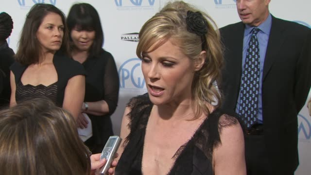 julie bowen at the 2010 producers guild awards at hollywood ca - julie bowen stock videos and b-roll footage