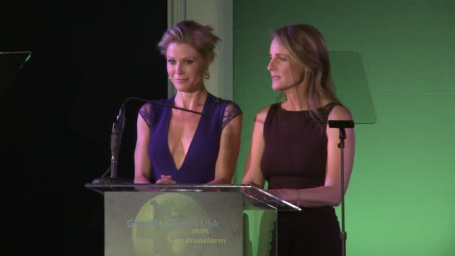 julie bowen helen hunt at global green usa presents its 16th annual millennium awards at fairmont miramar hotel on june 02 2012 in santa monica... - julie bowen stock videos and b-roll footage