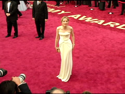stockvideo's en b-roll-footage met julie delpy at the 2005 annual academy awards arrivals at the kodak theatre in hollywood, california on february 28, 2005. - 77e jaarlijkse academy awards