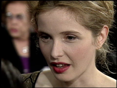 julie delpy at the afi honors honoring clint eastwood press room at the beverly hilton in beverly hills, california on march 1, 1996. - american film institute stock videos & royalty-free footage
