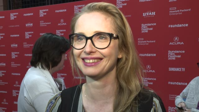 """stockvideo's en b-roll-footage met julie delpy on what she liked about this story, talks about the bond between man and dog and talks about working with the ensemble cast at """"weiner... - filmscreening"""