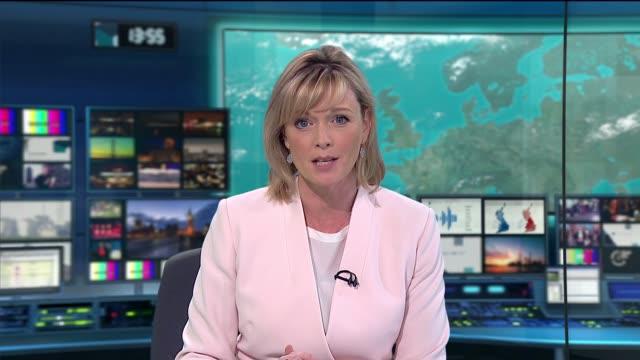 julie etchingham ends programme sot - julie etchingham stock videos & royalty-free footage