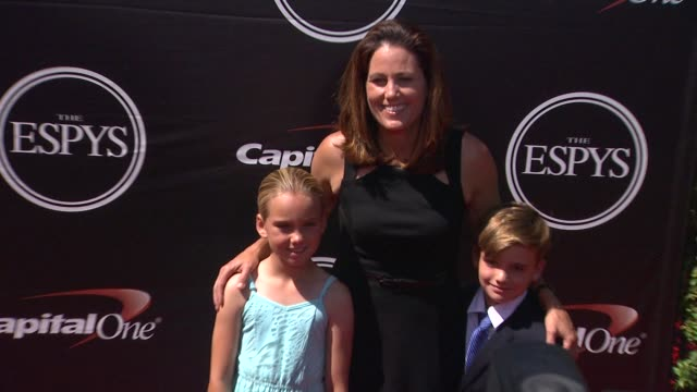 julie foudy at the 2015 espys at microsoft theater on july 15 2015 in los angeles california - microsoft theater los angeles stock videos and b-roll footage