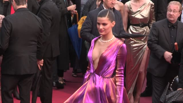 Julie Gayet Chantal Ladesou Isabeli Fontana on the red carpet for the premiere of les plus belles annees d'une vie during the 72nd annual Cannes Film...