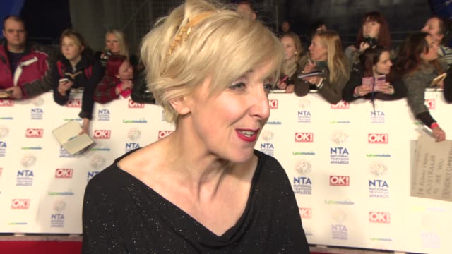 interview julie hesmondhalg on leaving coronation st and fans reactions at national television awards at 02 arena on january 22 2014 in london england - television awards stock videos & royalty-free footage
