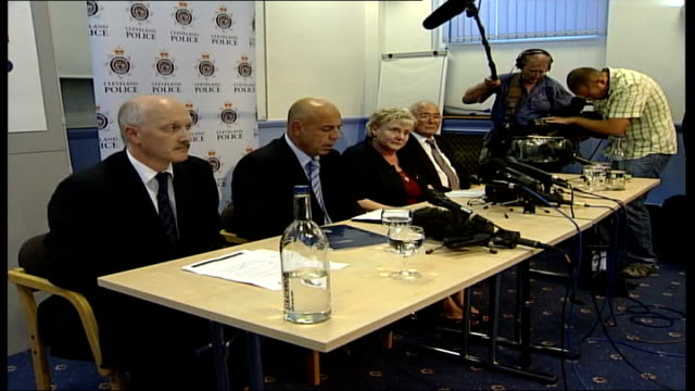 billy dunlop to be re-tried under double jeopardy law; int det supt dave duffy press conference sot - i have nothing but praise and admiration for... - tired stock videos & royalty-free footage