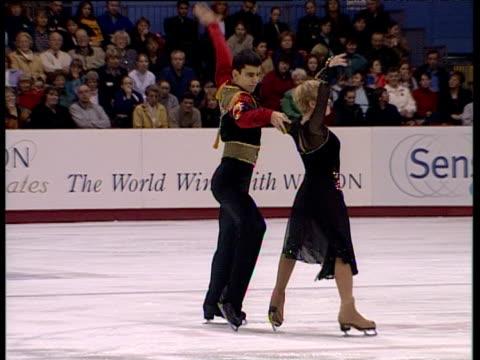 Julie Keeble and Lukasz Zalewski begin free programme British Ice Dance Championships Belfast Nov 99