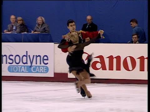 Julie Keeble and Lukasz Zalewski continue free programme British Ice Dance Championships Belfast Nov 99