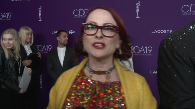 INTERVIEW Julie Vogel on the event being honored and the importance of costume designers at the 19th Costume Designers Guild Awards at The Beverly...