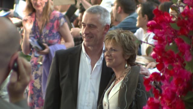 julie walters and her husband grant roffey at the mamma mia premiere at london - mamma mia stock videos and b-roll footage